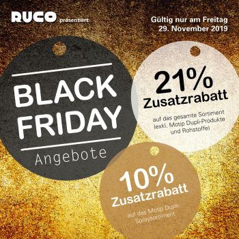Postkarte Ruco Black friday
