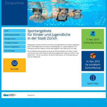 Website Zürisportkids